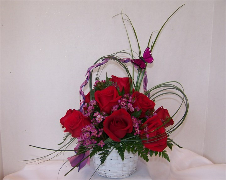 Red Rose basket and more....