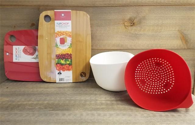 Flip-Chop Cutting Board & Colander/Bowl Combo