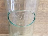 Clear Drinking Glass with Rooster Design