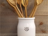 Ceramic Bee Crock & Teak Cutlery